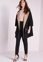 Missguided - Contrast felt blanket jacket