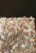 Lola May - Chiffon shirt with gold sequin panel