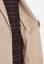 Native Youth - Longline brushed overcoat