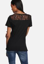 GUESS - Iconic girl lace back tee