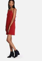 Lola May - Suede eyelet dress with back tie