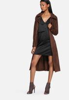 Lola May - Silky cami dress with overlay