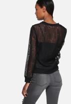 Lola May - Mesh printed sweatshirt