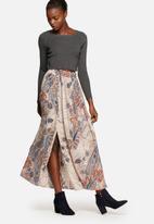 ONLY - Mid waist maxi pleated skirt