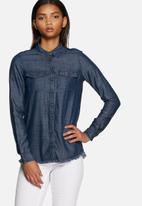 ONLY - Nova raw denim shirt