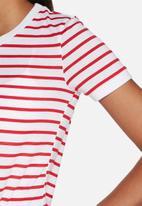 Glamorous - Red stripe tee
