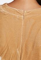 Glamorous - Velvet V-plunge dress