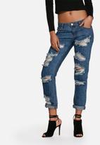 Glamorous - Distressed mom jeans