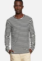 basicthread - Stripe long sleeve tee