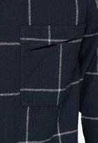 Another Influence - Longline flannel shirt