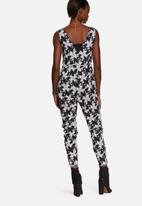 Neon Rose - Explosive geo print jumpsuit