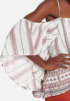 Glamorous - Folktale cold shoulder top