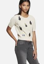 Vero Moda - Stick cropped knit top
