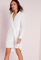 Missguided - Crepe wrap shirt dress