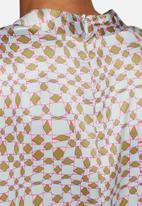 Neon Rose - Solange high neck crop