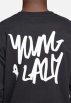 Young and Lazy - Graffiti tee