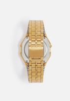 Casio - Digital Alarm chrono Retro Gold/Black