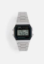 Casio - Digital Alarm Chrono A158WA-1Q-silver