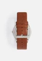 Skagen - Holst Leather Watch- brown/grey