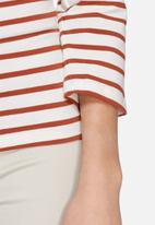 Jacqueline de Yong - Kenya stripy off the shoulder top