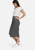 dailyfriday - Midi striped pencil skirt