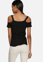 ONLY - Ripena cold shoulder top