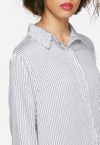 Native Youth - Longline stripe shirt