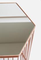 Sixth Floor - Hexagon mirror table