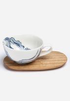 Love Milo - Cappuccino indigo cup & saucer