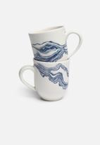 Love Milo - Indigo mug set of 2
