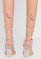 Missguided - Perspex Lace Up Heel