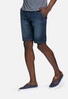 PRODUKT - Denim jogger shorts