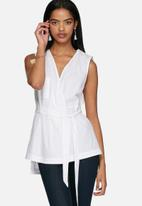 Neon Rose - Cotton wrap shirt