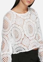 Glamorous - Lacy wide sleeve blouse