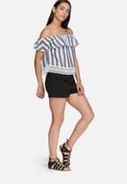Glamorous - Stripe off shoulder top