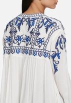 Glamorous - Embroidered front tie jacket