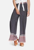 Glamorous - Border print palazzo pants