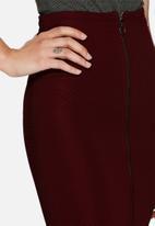 dailyfriday - Ribbed midi zipped skirt