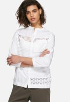 Neon Rose - Broderie anglaise shirt