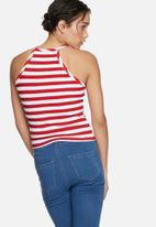 Glamorous - Stripe high neck top