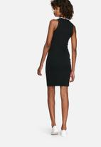 dailyfriday - Sports luxe rib bodycon dress