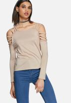 Daisy Street - Chanel cold shoulder strappy top