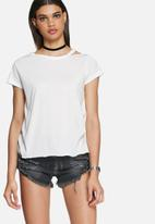 Daisy Street - Victoria distressed tee