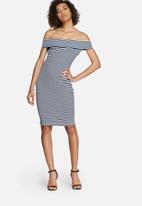 dailyfriday - Bardot off shoulder dress