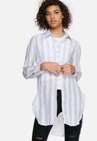 dailyfriday - Longline striped shirt