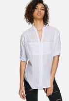 dailyfriday - Soft shirt with tab sleeve