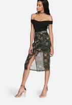 Glamorous - Floral pencil skirt
