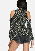 Glamorous - Vintage floral cold shoulder blouse