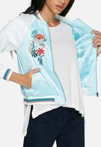 Glamorous - Satin embroidered bomber