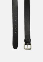 Jack & Jones - Jakob leather belt - black
